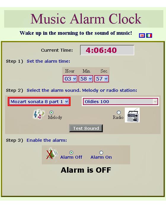 Despertarse con una radio reloj alarma de internet
