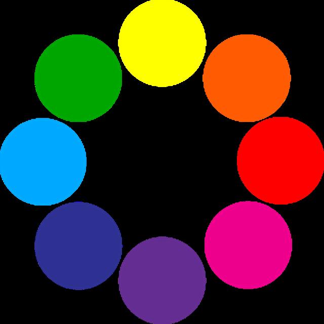Todos los colores en ingles