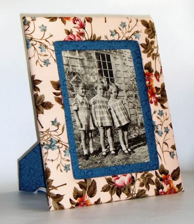 Como hacer un marco de fotos con cartón