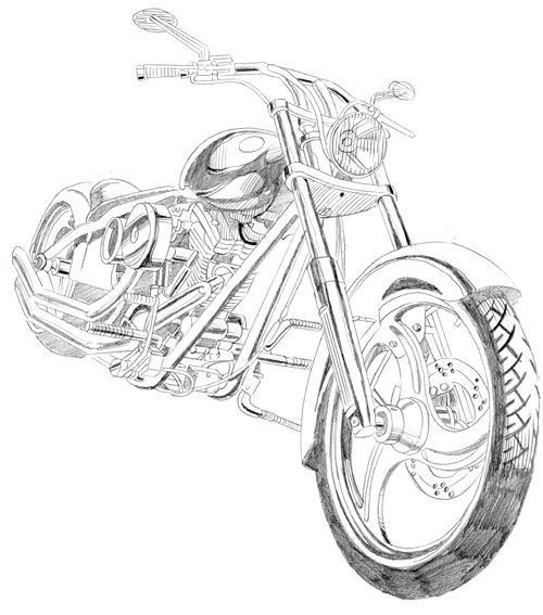 Como dibujar motos y autos